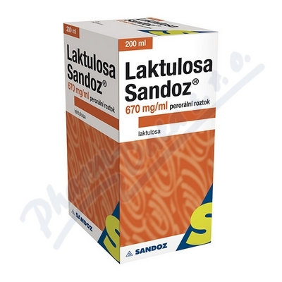 Laktulosa Sandoz 670mg/ml por.sol.1x200ml/134g IIA