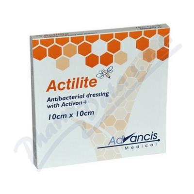 Actilite 10x10cm krytí antimikrob.s medem 10ks