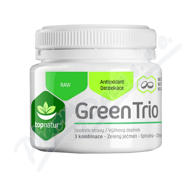 Green Trio Chlor.Spirul.Z.ječmen tbl.180 TOPNATUR