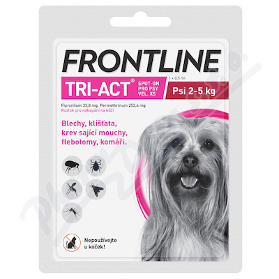 Frontline Tri-Act psi 2-5kg spot-on pipeta 1x0.5ml