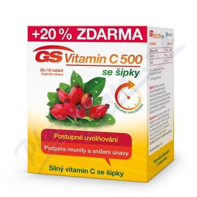 GS Vitamin C500 se šípky tbl.50+10 2016
