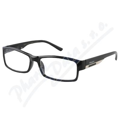 Brýle čtecí +3.50 FLEX černé s kov.doplňkem