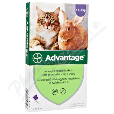 Advantage 80mg velké kočky+králíci spot-on 1x0.8ml