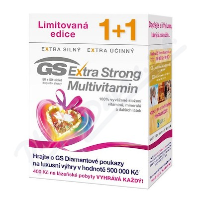 GS Extra Strong Multivitamin tbl.50+50 dárek 2017