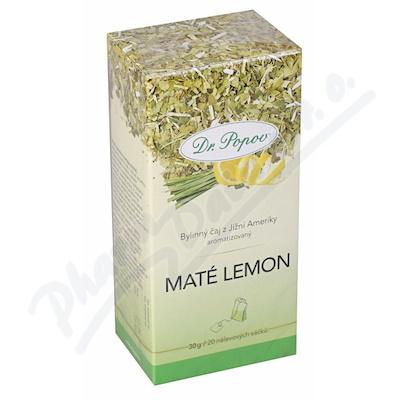 Dr.Popov Čaj Maté Lemon 20x1.5g