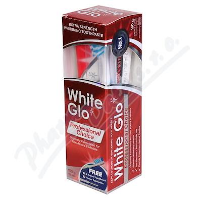 WHITE GLO Profesionální bělící pasta 150g+kartáček