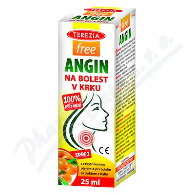 TEREZIA FreeAngin spray na bolest v krku 25ml