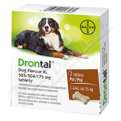 Drontal Dog Flavour XL 525/504/175mg psy tbl.2
