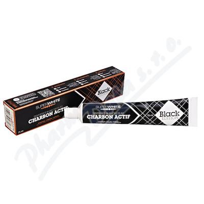 Bělící zub.pasta SUPERWHITE s akt.uhlím 75ml Black