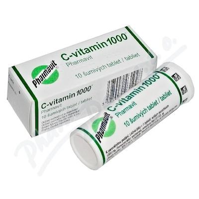 C-vitamin 1000 Pharmavit tbl.eff.10x1000mg