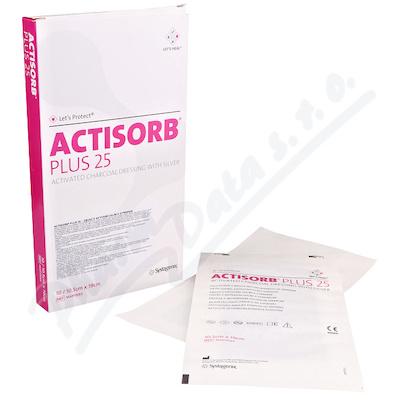 Actisorb Plus krytí s uhl.a stříbr. 10.5x19cm 10ks
