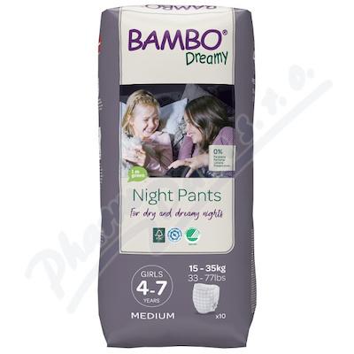 Bambo Dreamy Night Pants 4-7let Girl 15-35kg 10ks