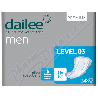 Dailee Men Premium Level 3 inko.vložky 14ks