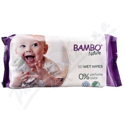 Bambo Nature dětské vlhčené ubrousky 50 ks
