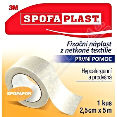 3M Spofaplast 732 Fix.náplast netk.text.5mx25mm