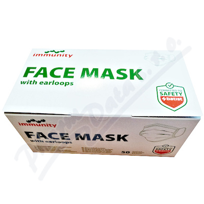 FACE MASK zdravotni.maska s gumičkami ústenka 50ks