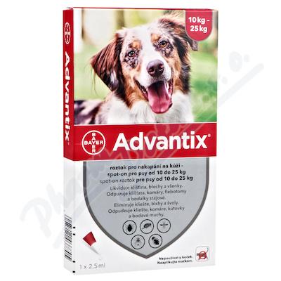 Advantix pro psy od 10-25kg spot-on a.u.v.4x2.5ml