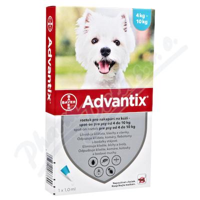 Advantix pro psy od 4-10kg spot-on a.u.v.4x1ml
