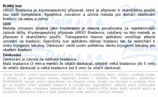 URGO Bradavice kryoterapie 38ml