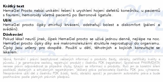 HemaGel PROCTO čípky 10ks