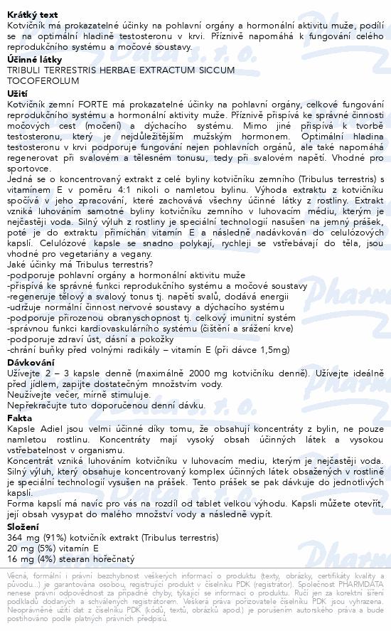 ADIEL Kotvičník zemní FORTE s vitamínem E cps. 90