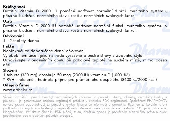 Detritin 2000 IU 60 tablet