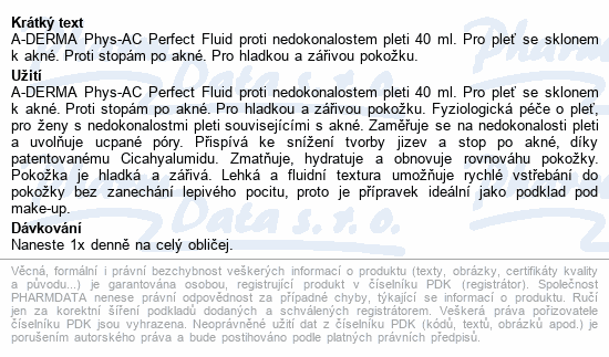 A-DERMA Phys-AC Perfect Fluid pr.nedok.pleti 40ml