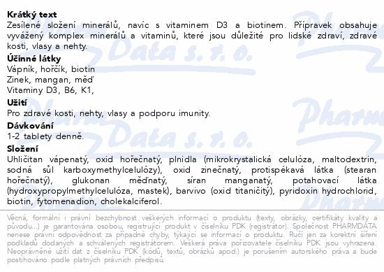 GS Vápník Hořčík Zinek Premium tbl.100+30 d.2019