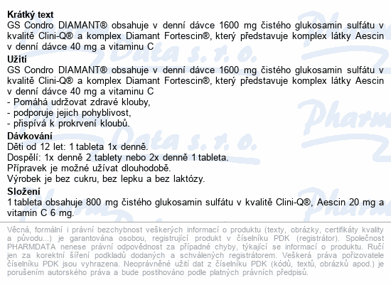 GS Condro DIAMANT tbl.100+50 dárek 2020 ČR/SK