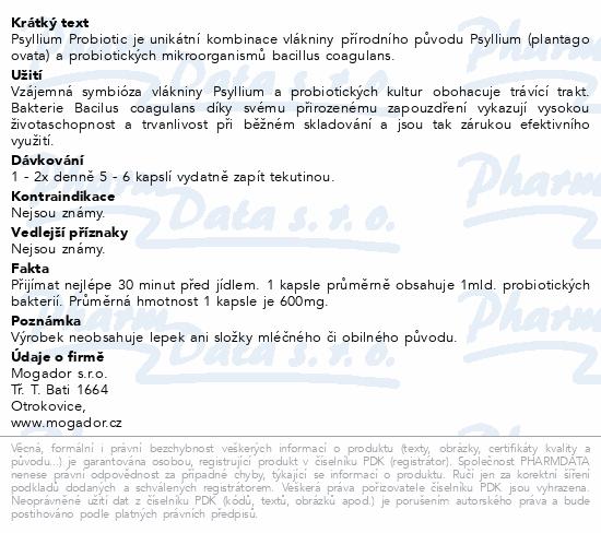 Psyllium Probiotic cps.100