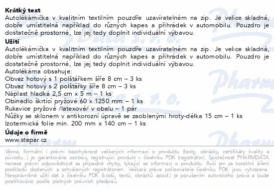 Autolékárna I.-polštářek-vyhláška č. 206/2018 Sb.